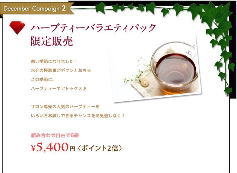 ハーブティーバラエティパック限定販売 - 組み合わせ自由で6袋¥5,400 円 〈ポイント2倍〉