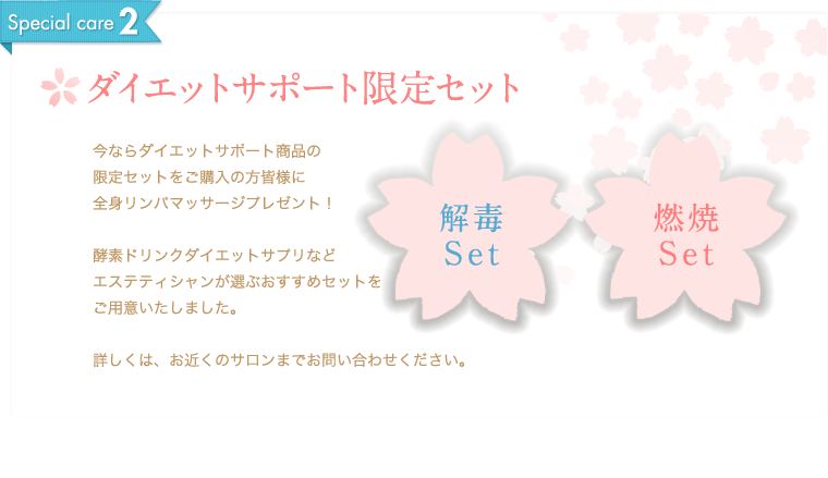Special care2 ダイエットサポート限定セット
